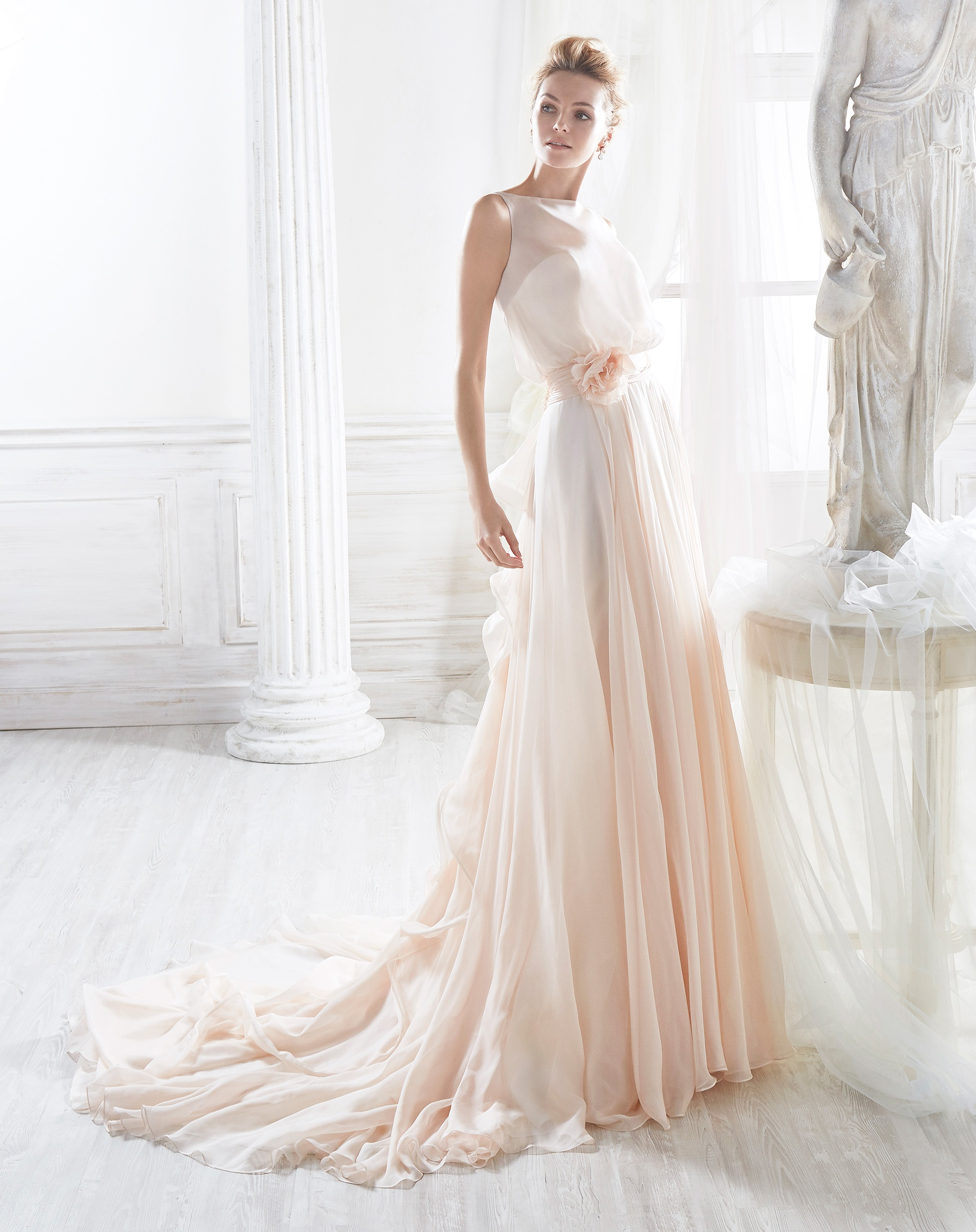 nicole-spose-NIAB18036-Nicole-moda-sposa-2018-rosa pesca
